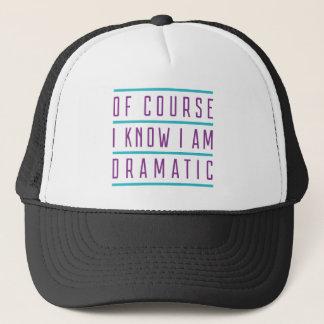 Boné Naturalmente eu sei que eu sou dramático