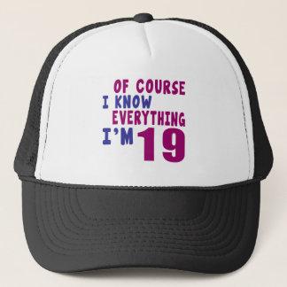 Boné Naturalmente eu sei que tudo eu sou 19