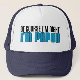 Boné Naturalmente eu sou direito que eu sou Papou