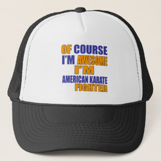 Boné Naturalmente eu sou lutador americano do karaté