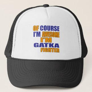 Boné Naturalmente eu sou lutador de Gatka