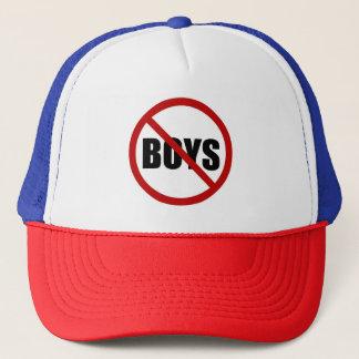 Boné Nenhum chapéu permitido menino da tipografia do