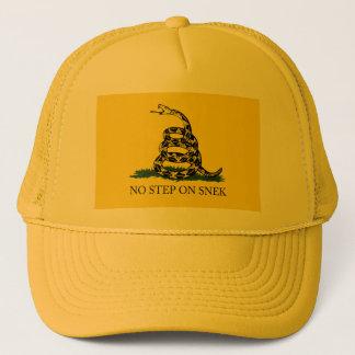 Boné NENHUMA ETAPA no chapéu do camionista de SNEK