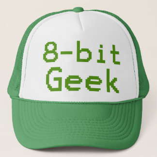Boné nerd cómico do geek de 8 bits
