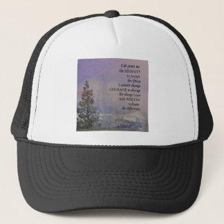 Boné Neve das colinas das árvores da oração da