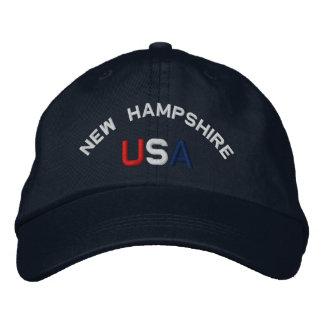 Boné New Hampshire EUA bordou o chapéu dos azuis