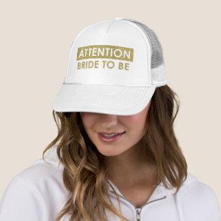 Boné Noiva da ATENÇÃO a ser - customizável