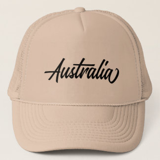Boné Nome de país da tipografia para Austrália