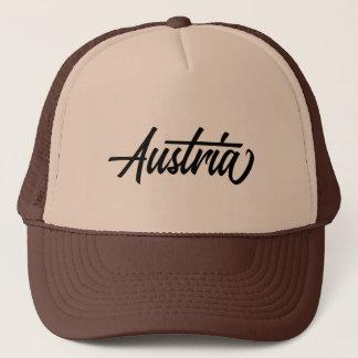 Boné Nome de país da tipografia para Áustria