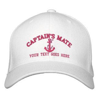 Boné Nome do Companheiro Barco Âncora Seu do capitão
