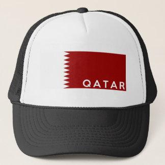 Boné nome do texto da bandeira de país de qatar
