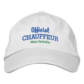 Boné Nome oficial do costume do Chauffeur do chapéu