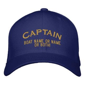 Boné Nome ou ambos do capitão Seu Barco Nome Seu!