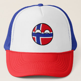 Boné Noruega Geeky de tensão engraçada Countryball