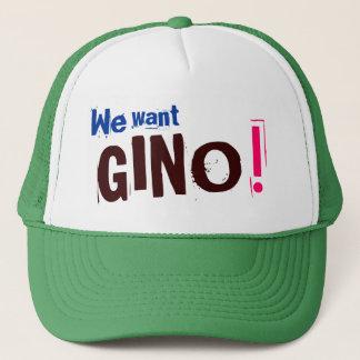 Boné Nós queremos GINO! - Chapéu dos célticos de Boston