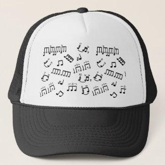 Boné Notas musicais do jogador do cilindro da percussão