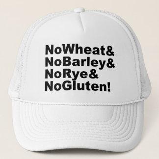 Boné NoWheat&NoBarley&NoRye&NoGluten! (preto)