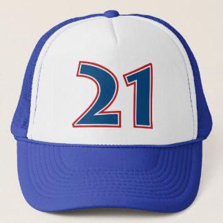 Boné Número azul 21