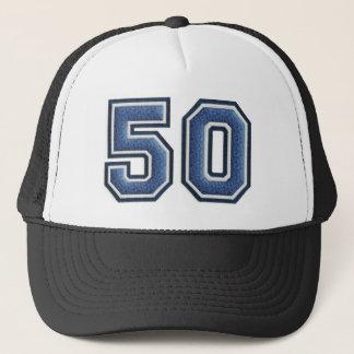 Boné Número azul 50