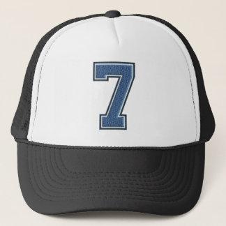 Boné Número azul 7