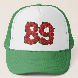 Boné Número flor de 89 ou 89th aniversários