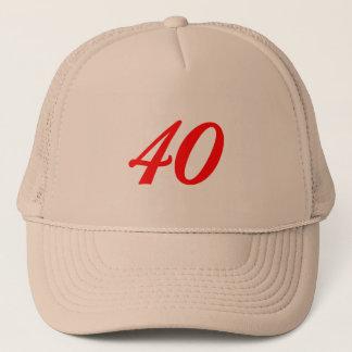 Boné Número quarenta presentes de aniversário de 40