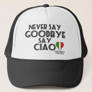 Boné Nunca diga que adeus diga o Ciao