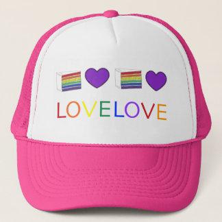 Boné O amor é orgulho gay do bolo do coração do