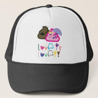 Boné O amor é t-shirt do amor: Poo & casal Loving do