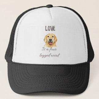 Boné O amor é uma palavra de quatro patas