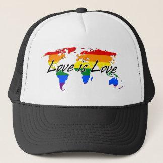 Boné O amor mundial do orgulho gay é amor