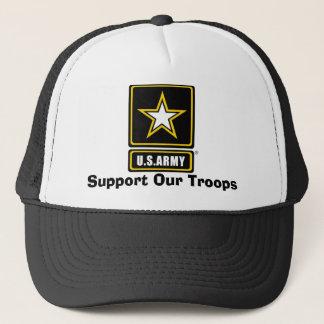 Boné o armylogotranspbkgd, apoia nossas tropas