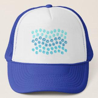 Boné O azul acena o chapéu do camionista