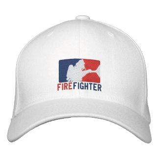 Boné O bordado do costume do sapador-bombeiro