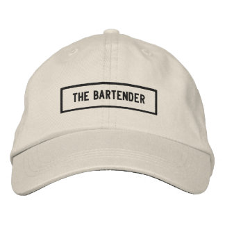 Boné O bordado do título do barman