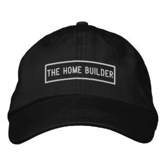 Boné O bordado do título do construtor de casas