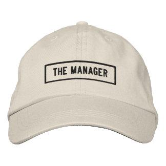 Boné O bordado do título do gerente
