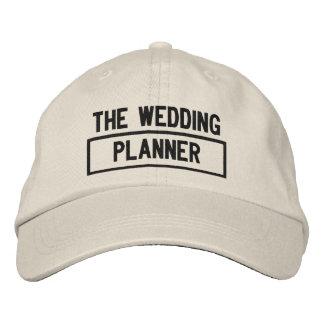 Boné O bordado do título do planejador do casamento