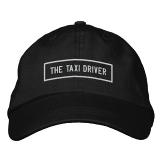 Boné O bordado do título do taxista