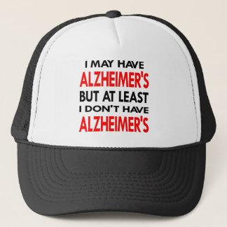 Boné O branco pode ter Alzheimers