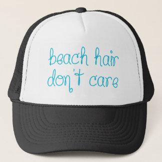 Boné O cabelo da praia não se importa