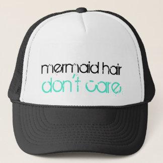 Boné O cabelo da sereia não se importa férias tropicais