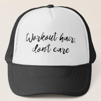 Boné O cabelo do exercício não se importa o chapéu