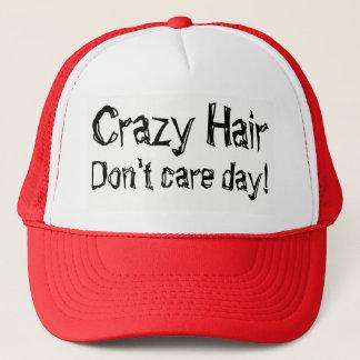 Boné O cabelo louco não se importa o humor do dia