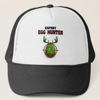 Boné O caçador perito da páscoa, cervo do ovo visa o