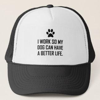Boné O cão do trabalho assim melhora a vida