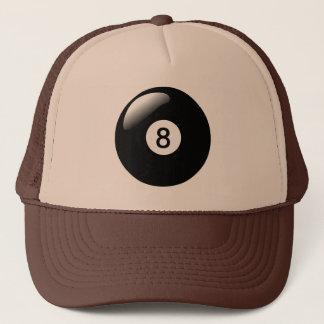 Boné O chapéu de oito camionistas dos bilhar da piscina