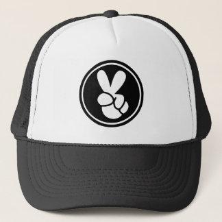 Boné O chapéu do camionista branco do preto do sinal de