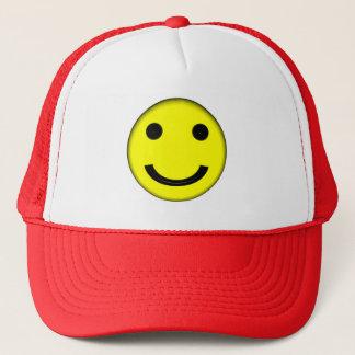 Boné O chapéu do camionista de Emoji do smiley face