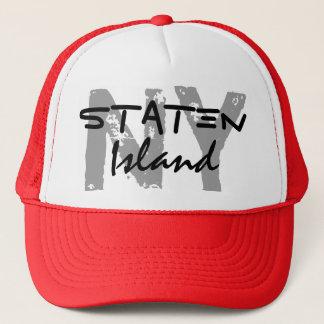Boné O chapéu do camionista de Staten Island New York